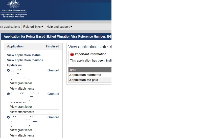 ImmiAccount Finalised status | Migration Desk
