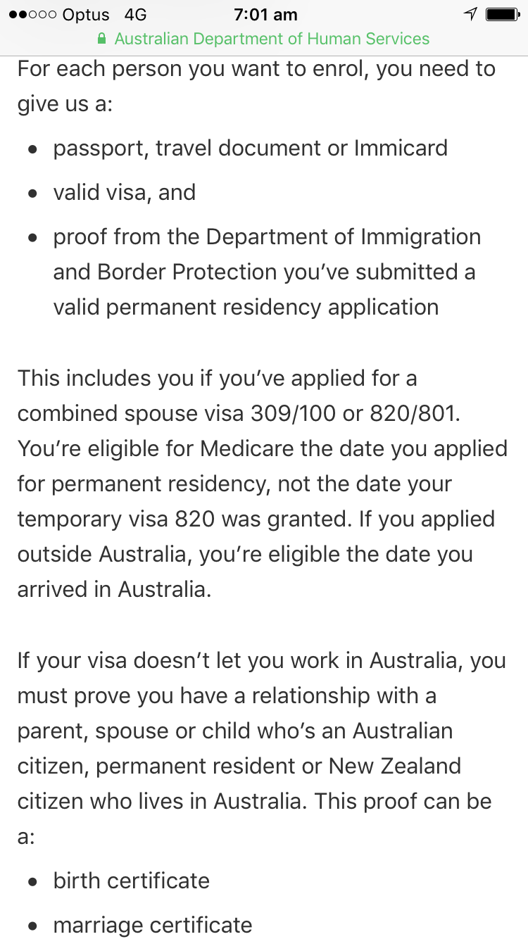 Get Medicare Card While 186 Visa Application Is Under Processing